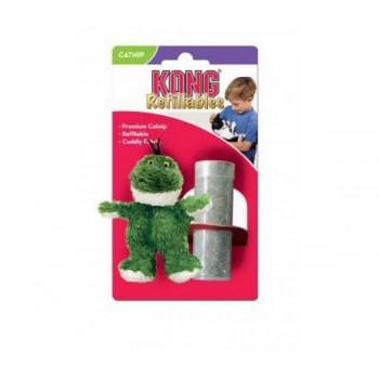 """Kong / Конг игрушка для кошек """"Лягушка"""" плюш с тубом кошачьей мяты"""