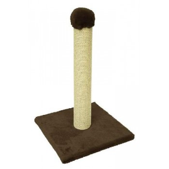 Зооник Когтеточка на подставке, одн.мех, темно-коричневый