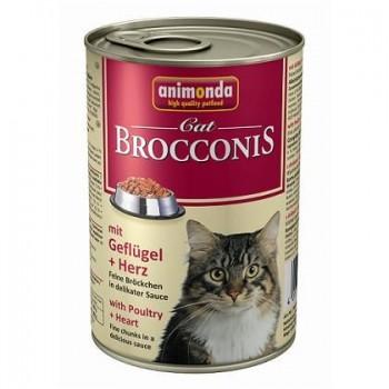 Animonda Cat Brocconis конс. 400 г с домашней птицей и сердцем для взрослых кошек 83377