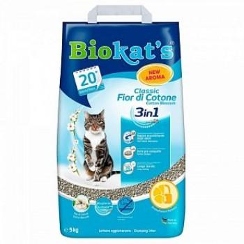 """Biokat's / БиоКэтс наполнитель BIOKAT'S """"Классик 3 в 1 с ароматом хлопка"""", 5кг"""