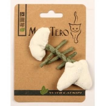 """Mon Tero / Мон Теро ЭКО игрушка для кошек """"Рыбья кость"""", 11 см, с кошач. мятой,белая"""