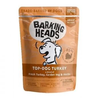"Barking Heads / Баркинг Хедс Паучи для собак с индейкой ""Бесподобная индейка"" (Top Dog Turkey 300g), 300 гр"