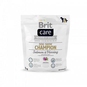 Brit / Брит Care Dog Show Champion для выставочн,собак, лосось и сельдь с рис, 1 кг
