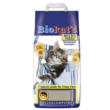 """Biokat's / БиоКэтс Наполнитель д/кош. туалета """"Биокат'с микро"""", (свежий) 7 л"""