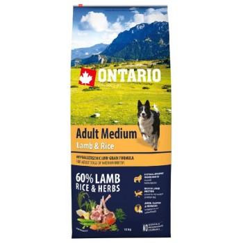 Ontario / Онтарио для собак с ягненком и рисом 12 кг