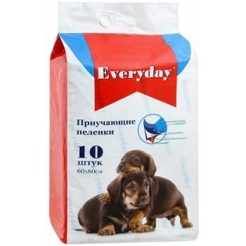 Everyday впитывающие пеленки для животных гелевые 10шт 60х60см