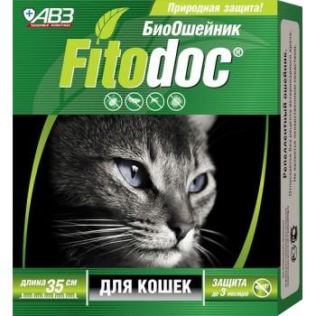 АВЗ ФИТОДОК ошейник для кошек репеллентный био от блох до 3 месяцев и клещей до 5 недель на основе эфирных масел, 35 см