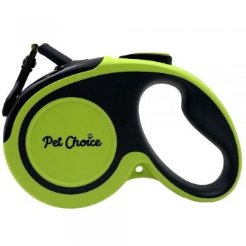 Pet Choice Поводок-рулетка со светоотражающей лентой 5 м до 30 кг