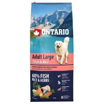 Ontario / Онтарио для собак крупных пород с 7 видами рыбы и рисом 12 кг