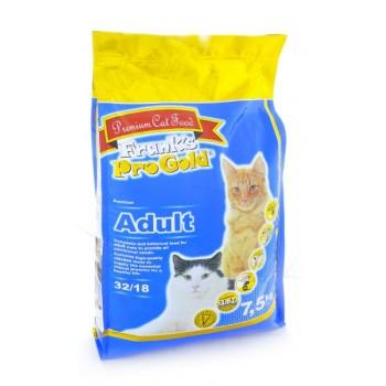 Frank's ProGold / Франкс ПроГолд для взрослых кошек: Курица (Adult 32/18) 7,5 кг