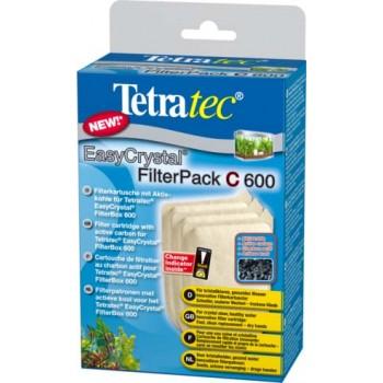 Tetra / Тетра EC 600 с фильтрующие картриджи с углем для внутреннего фильтра EasyCrystal 600 3 шт.
