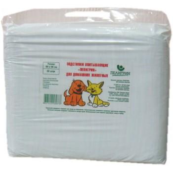 Пелигрин Доброзверики Подстилки впитывающие д/домашних животных 60*90 уп 100 шт.