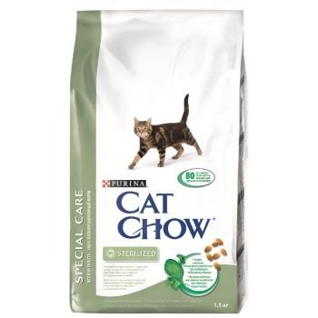 """Cat Chow / Кэт Чоу """"Special Care"""" сухой 1,5 кг для кошек Кастрированных и Стерилизованных"""