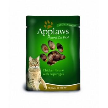 Applaws / Эпплаус паучи для кошек с Курицей и Спаржей 0,07 кг