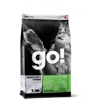 Go! / Гоу! для котят и кошек с Чувств.пищеварением: Форель, Лосось 3,63 кг