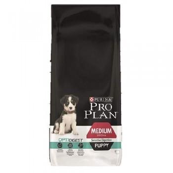 """Pro Plan / Про План """"Puppy Medium Sensitive Digestion"""" с комплексом OPTIDIGEST сухой 18 кг с чувствительным пищеварением Ягненок"""