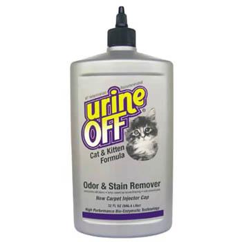 Urine OFF / Юрин Офф, Средство для уничтожения пятен и запахов от кошек и котят (с апликатором), UO Odor and Stain Remover, Cat & Kitten, IC, 946 ml