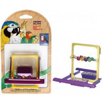 Penn-Plax / Пен-Плакс Игрушка для птиц Зеркало с жердочкой и бусинами ВА504