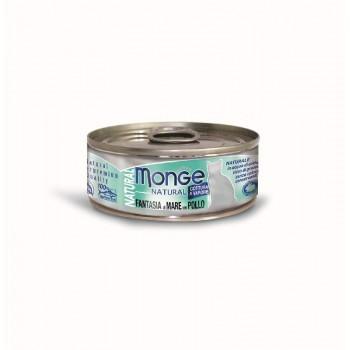 Monge / Монж Cat Natural консервы для кошек морепродукты с курицей 80г