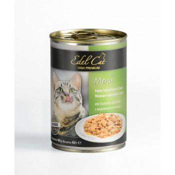 Edel Cat / Эдель Кэт нежные кусочки в соусе /индейка печень/ - 0,4 кг