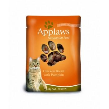 Applaws / Эпплаус паучи для кошек с Курицей и Тыквой 0,07 кг