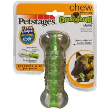"""Petstages / Петстейджес игрушка для собак """"Хрустящая косточка"""" резиновая 12 см средняя"""