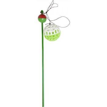 Зооник Удочка пластиковая 50см с сетчатым мячиком
