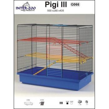 Iнтер-Zоо / Интер-Зоо Клетка д/грызунов PIGI III 500*280*435см (цветная) (G066)