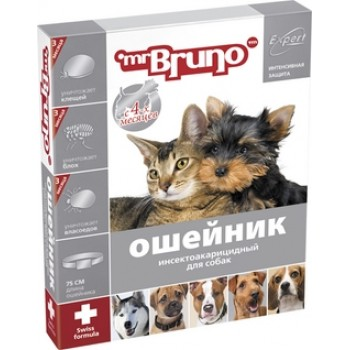 Mr.Bruno / М.Бруно Ошейник д/собак инсектоакарицидный 75см