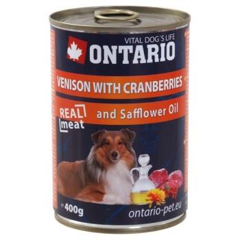 Ontario / Онтарио Консервы для собак: оленина и клюква 0,4 кг