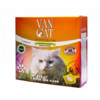 """Van Cat Комкующийся Наполнитель """"100% Натуральный"""", без пыли, коробка (Natural) 10 кг"""