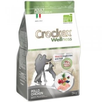 CROCKEX / КРОКЕКС Wellness сухой корм для собак средних и крупных пород 12 кг курица с рисом MCF3412