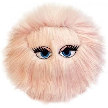 Silly Squeakers Игрушка-пищалка для собак Пушистый мяч с глазами большой, розовый (iBall Large Pink) SS-IB-L-PK