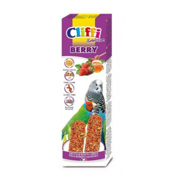 Cliffi / Клиффи Лакомства для волнистых попугаев экзотических птиц: палочки лесными ягодами медом Selection Berry PCOA432