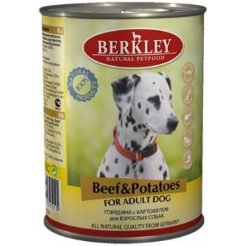 Berkley / Беркли кон. д/собак говядина с картофелем 400гр
