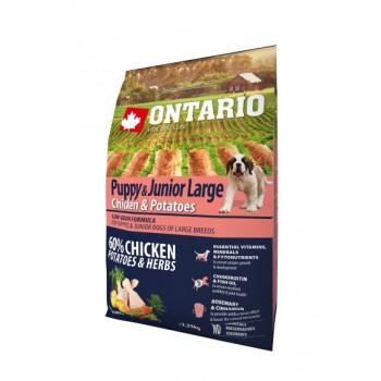 Ontario / Онтарио для щенков крупных пород с курицей и картофелем 2,25 кг
