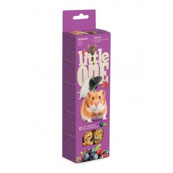 Little One Палочки для хомяков, крыс, мышей и песчанок с ягодами, 2х60 гр