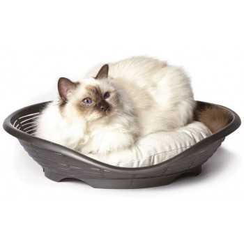 Bama Pet лежанка с подушкой PASHA 48х46х11h см, антрацит