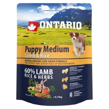 Ontario / Онтарио для щенков с ягненком и рисом 0,75 кг