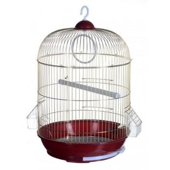 Kredo A309G Клетка д/птиц зол. кругл. укомпл. 33*53