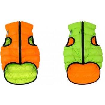 AiryVest / ЭйриВест курточка двухсторонняя, размер XS 22, оранжево-салатовая