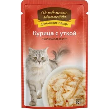 Деревенские лакомства «Курица с уткой в нежном желе», 70 гр