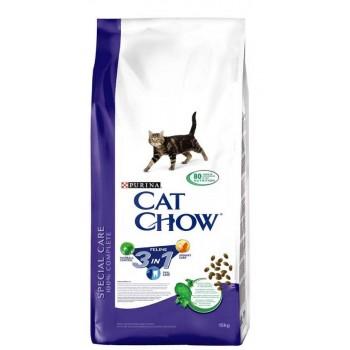 """Cat Chow / Кэт Чоу """"Feline"""" сухой 15 кг для кошек 3 в 1"""