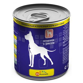 VitAnimals / ВитЭнималс консервы д/собак Ягненок с рисом 750гр