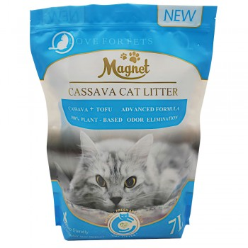 Magnet Наполнитель комкующийся, растительный Mixed Cat Litter, Green Tea(Tofu) and Activated Carbon 7 л