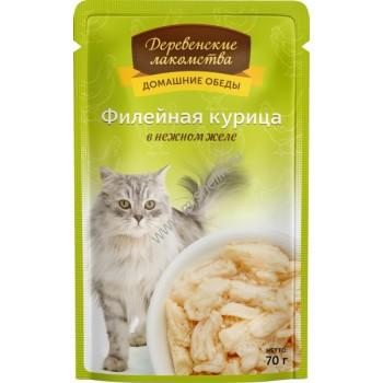 Деревенские лакомства «Филейная курица в нежном желе», 70 гр