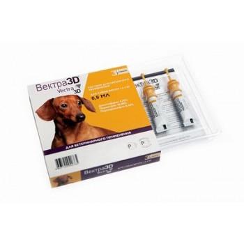 Вектра 3D капли д/собак 1,5-4кг инсектоакарицидные 0,8мл*3пипетки