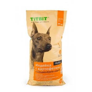TitBit / ТитБит Корм сухой гипоаллергенный для собак всех пород Индейка с картофелем 13 кг