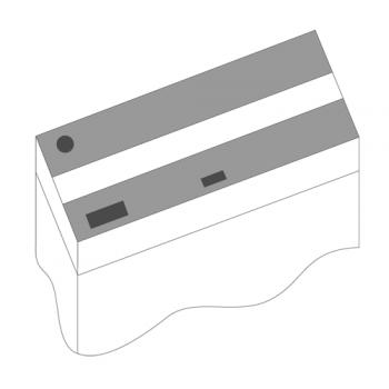 Juwel / Ювель Комплект пластиковых крышек 100х50см 2шт черный