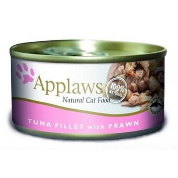 Applaws / Эпплаус Консервы для кошек с филе Тунца и Креветками 0,07 кг